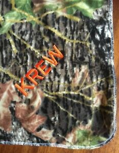 Green Mossy Oak Camo Baby Toddler Blanket Can Be Personalized 28 x 44