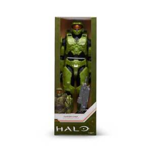 """Halo Infinite: World of Halo Master Chief with Assault Rifle 12"""" Action Figure"""
