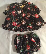 Polly Flinders Blue Floral Doll Dress and Panties