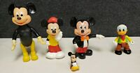 Lot of Vintage Walt Disney Mickey Mouse Donald Duck Vinyl Figures, Hong Kong+