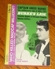 1964 Burke's Law book: Who Killed Madcap Millicent? Pocket Books Gene Barry