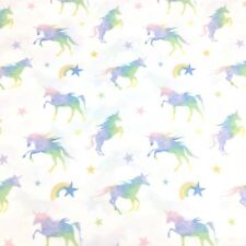 4pc Envogue Unicorn FULL Sheet Set Rainbow Star Pink Purple Green Blue Yellow