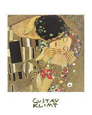 Gustav Klimt Poster Kunstdruck Bild Offsetdruck Der Kuss 30x24 cm Portofrei