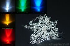 3mm round top Water Clear Multi Color Super-Bright Led light. Usa Fast Shipping