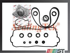 Fit 88-95 Honda 1.5L D15B Engine Timing Belt Water Pump Gasket Kit w/ Oil Seals