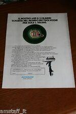 BL10=1972=EVINRUDE MOTORE BARCA NAUTICA=PUBBLICITA'=ADVERTISING=WERBUNG=
