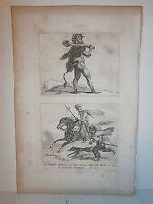 Gravure  France Guerrier et cavalier Germain couvert d'une peau de béte en 406