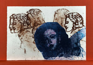 "Nancy Spero Farbsiebdruck  ""Frieze"" (signiert & datiert) Griffelkunst, 1994"