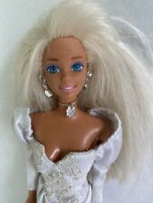 VERY Tanned Skin,LONG HIGHLIGHTED HAIR ARTICULATED Barbie-Nude Doll ONLY