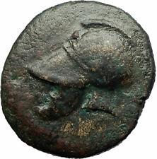 MESEMBRIA 300BC Corinthian Helmet & Wheel Authentic Ancient Greek Coin  i76116