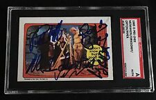McMAHON, PIPER, ORNDORFF, & ORTON 1985 OPC SIGNED AUTOGRAPHED CARD SGC AUTHENTIC