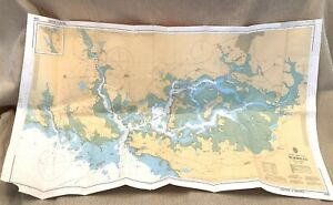 1984 Vintage Maritime Map Morbihan France Port Navalo French Coast Sailing