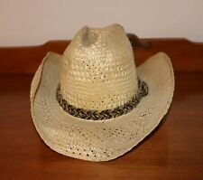 Mens Beat Up Resistol Stagecoach Straw Cowboy Hat Size 7