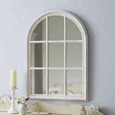 Large Arch Window Mirror - Antique White