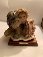 Vintage G.ARMANI Gulliver's World Girl With Shaggy Dog Magnificent RARE