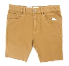 NEW $79 MENS INSIGHT BROWN PISTOL SKINNY CUT OFF HEM DENIM JEAN SHORTS