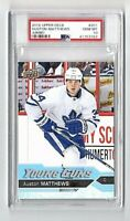2016 UD Jumbo Auston Matthews Young Guns PSA 10 Gem Mint Pop 13<1,365 Reg YG 10s