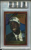 1995 Finest Basketball 115 Kevin Garnett Rookie Card Graded BGS MINT 9 w Coating