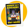 Monsters - PERSONALISED BIRTHDAY CARD - minecraft gamer personalized enderman