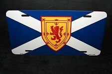 SCOTLAND FLAG METAL NOVELTY LICENSE PLATE St Andrew's Cross Scotish Royal Arms