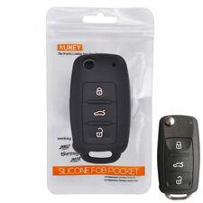 Silicone Key Case Cover For Volkswagen Golf Polo Skoda Seat Leon Remote Fob