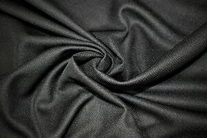 "Black Moisture Wicking Sport Wear Performance Knit Stretch Fabric 62""W"
