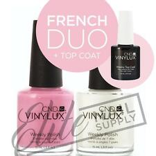 CND VINYLUX Weekly Polish 15ml - Any French Duo + Top Coat