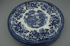 Royal Wessex Churchill China England TONQUIN Blue Dinner Plates - Set of Four