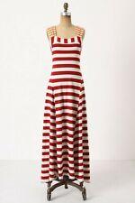 Anthropologie Split Stripes Maxi Dress $148 S 4 6 Striped MONOGRAM