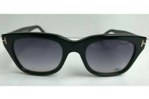 New Men's Tom Ford 237 05B Snowdon Shiny Black/Havana Sunglasses $415