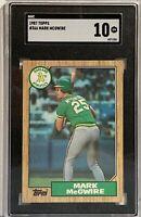 1987 Topps #366 Mark McGwire SGC Gem 10 Oakland Athletics RC