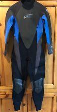 O'Neill Epic 3.2 mm Black/Blue Full Wet Suit Surf Scuba Mens 12 M 1 Piece EUC