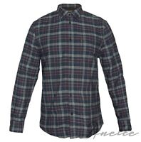 Ben Sherman Oxford Check Men's Shirt Long Sleeve Logo Pocket Brand Buttons BNWT
