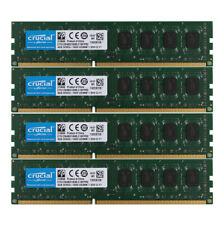Crucial 4x 4GB Intel Desktop Memory PC3L-12800 2RX8 DDR3 1600MHz RAM DIMM 16GB %