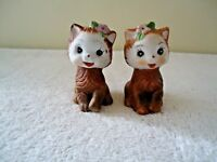 "Vintage Made In Korea Set Of Kitten Salt & Pepper Shakers "" BEAUTIFUL SET """