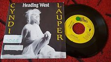 """CYNDI LAUPER ***Heading West*** RARE COVER 1989 Spain 7"""" PROMO Single ONE-SIDED*"""