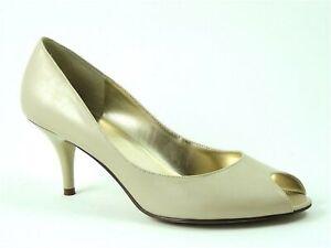 Nine West Women's Castille Peep-Toe Pumps Mineral Beige Size 10 M