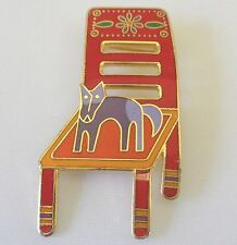 "Vintage VHTF Signed Laurel Burch Pin ""Basso Goes to the Chair House"" Excellent"