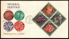 U.S. 1974 - MINERALS (Block of 4 on FDC) lot 6
