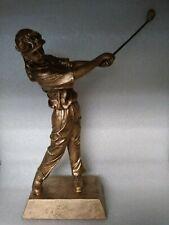 "10"" Female Golfer Resin Trophy Award Gold (50625-G) Free Engraving"