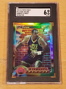 1993-94 Topps Finest Refractor #112 Karl Malone SGC 6 Newly Graded