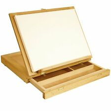 Artist Wood Desk Easel Drawing Painting Stand Portable Craft Compact Storage Box