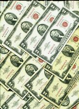 Mixed ✯Lightly Circulated 1976-2013 Rare Two Dollar Bill $2 Note Lot Fancy, Bep✯