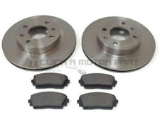 FRONT 2 BRAKE DISCS AND PADS SET NEW FOR KIA PICANTO MK2 1.0 & 1.3 2011-2016