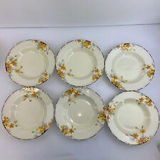 Set Of 6 Crown Ducal Sunburst Large Soup / Serving Bowls - 10 inches - Stunning