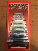 1979 Toyota Cars and Trucks Advertising Brochure