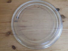 MICROWAVE GLASS TURNTABLE PLATE. UNIVERSAL. 11.5ins. VGC