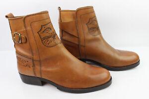 VINTAGE Bottines MELITTO MELY Boots Tout Cuir Fauve T 44 TBE