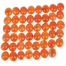 47 Pcs Natural Carnelian Finest Orange Top Quality Loose Cabochon Gemstones Lot