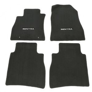 2013-2015 Nissan Sentra Black Carpeted Floor Mats Front & Rear Set Of 4 OEM NEW